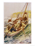 Matthew Flinders and George Bass Survey the Australian Coast in the Tiny Tom Thumb Giclee Print by W.r. Stott