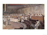Catiline Plotting to Seize Power in Rome is Denounced in the Senate by Cicero Giclee-vedos