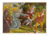 Witch Accompanied by a Beggar and a Fool Curses Two Sergeants-At-Arms Who Slink Away Terrified Giclee Print