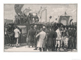 The Chartist Demonstration: The Meeting on Kennington Common London Premium Giclee Print by W.b. Wollen