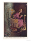 Scrooge Receives a Visit from the Ghost of Jacob Marley His Former Business Partner Giclee Print by S.j. Woolf