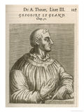 Pope Gregorius I Pope from 590, 604 Also Known as St. Gregorius the Great Giclee Print by Andre Thevet