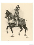 French Horse-Soldier Period of Philippe le Bel Giclee Print by L. Vallet