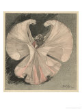 Loie Fuller (Mary Louise Fuller) American Dancer at the Folies Bergere Paris Giclee Print by Théophile Alexandre Steinlen