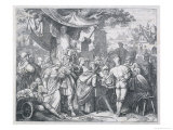 The German Dominican Johann Tetzel Selling Indulgences in a German Market Square Giclee Print by Trenkwald 