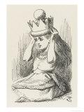 Alice Crowned as Queen Alice Puts on the Crown Lámina giclée por Tenniel, John