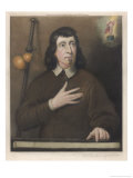John Milton English Poet Colour Portrait Giclee Print by Pieter Van Der Plas