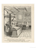 Dutch Printing House, Typesetting and Printing Giclee Print by Jan Van Der Velde