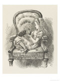 Black Kitten Alice and the Black Kitten Giclee Print by John Tenniel
