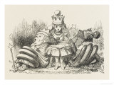 Alice with the Sleeping Queens Giclee Print by John Tenniel