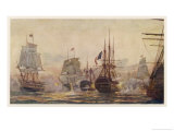 Egyptian Campaign Battle of the Nile Lámina giclée por Norman Wilkinson