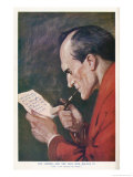 The Valley of Fear Holmes Examines the Cipher Document Giclee Print by Frank Wiles