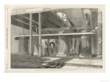 The Four Engines Which Supply Power to the Machines at Dean Mills Cotton-Mill Giclee Print