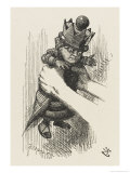 Alice Shakes the Red Queen Giclee Print by John Tenniel
