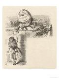 Alice Meets Humpty-Dumpty Giclee Print by John Tenniel