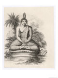 Siddhartha Gautama the Buddha, Statue of the Seated Buddha Giclee Print by Andrew Thom