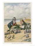 The Walrus and the Carpenter Lámina giclée por Tenniel, John