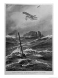 German Seaplanes and U-Boats in the North Sea Giclee Print by Willy Stower