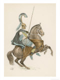 Greek Soldier on Horseback Giclee Print by L. Vallet