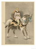 An Amazon on Horseback Giclee Print by L. Vallet