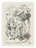 Croquet Alice and the Duchess Premium Giclee Print by John Tenniel