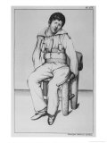 Patient in a Strait-Jacket Seated Giclee Print by Ambroise Tardieu