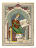 Wulfstan Archbishop of York 1002-1023 English Prelate Giclee Print by Joseph Strutt