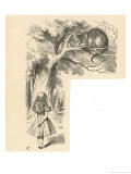 Cheshire Cat Alice Meets the Cheshire Cat Giclee Print by John Tenniel