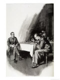The Valley of Fear Watson Watches Whilst Holmes Studies the Evidence Giclee Print by Frank Wiles
