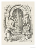 "Alice Crowned as Queen ""Queen"" Alice with the Old Frog Giclee Print by John Tenniel"