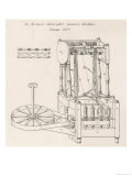 Arkwright's Spinning Machine the First Machine to Enable Spinning to be Done by Machine Giclee Print