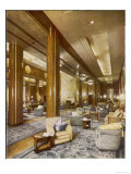 Cunard White Star Liner Interior Photograph of the Air Conditioned Main Lounge Giclee Print