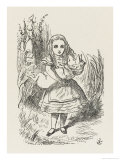 Alice with the Pig-Baby Giclee Print by John Tenniel