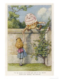 If He Smiled Much More the Ends of His Mouth Might Meet Behind Premium Giclee Print by John Tenniel