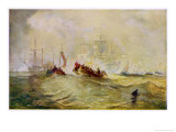 William III Lands in England at Torbay Giclee Print by Joseph Mallord William Turner