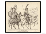 Contemporary Illustration of Byzantine Soldiers on Horseback Giclee Print