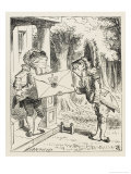 The Fish Footman and the Frog Footman Premium Giclee Print by John Tenniel