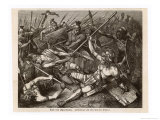 Slave Revolt in the Final Battle Crassus Defeats the Slaves and Spartacus is Killed Giclée-Druck von Hermann Vogel