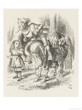 White Knight Alice and the White Knight Giclee Print by John Tenniel