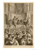Catiline Plotting to Seize Power in Rome is Denounced in the Senate by Cicero Giclee Print by L. Stefanoni