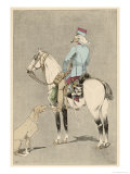 Mounted Soldier of the French Colonial Cavalry Gicl&#233;e-Druck von L. Vallet