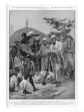 Chaka Lieutenant Farewell Negotiates with Chaka King of the Zulus in Natal Giclee Print by Richard Caton Woodville