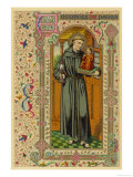 Saint Antony of Padua Portuguese Theologian Premium Giclee Print