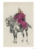 French Cuirassier of the Imperial Guard with His Trumpet Giclee Print by L. Vallet