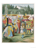 "Alice and the Queen of Hearts: ""Off with Her Head!"" Giclee Print by John Tenniel"