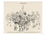 Wandervogel, Members of a German Youth Club Gather Before Setting Out Giclee Print by H. Zille