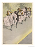 Four Dancers Perform on a Stage Giclee Print by Ferdinand Von Reznicek