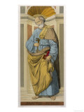 Saint Peter the First Pope Depicted Clutching the Keys of the Kingdom Given Him by Jesus Giclee Print