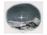 Arctic Scene with Lunar Halo Giclee Print by J.w. Whimper