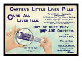 Liver Tablets, Advert for Carters Little Liver Pills Giclee Print